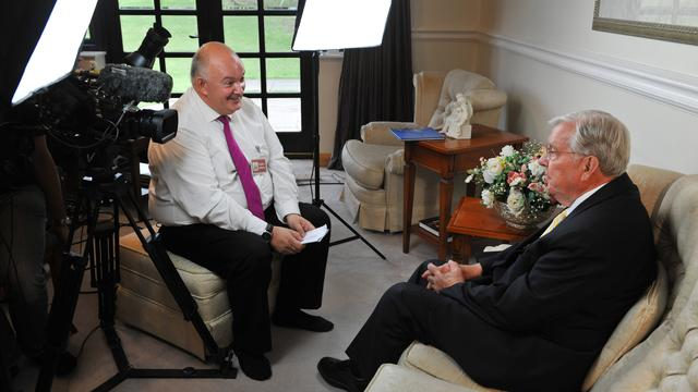 Church filmographer Peter Middleton interviews Elder Ballard