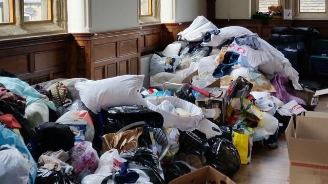 Huddersfield congregations collection donations for Europe refugees