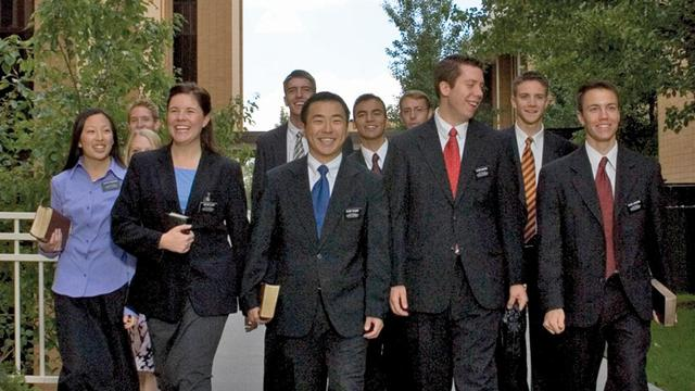 Missionaries at the Missionary Training Center in Provo, Utah.
