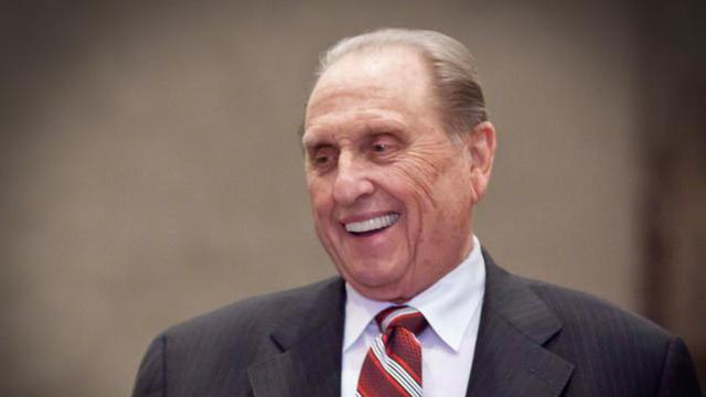 President Thomas S. Monson, at a conference in Germany, October 2012