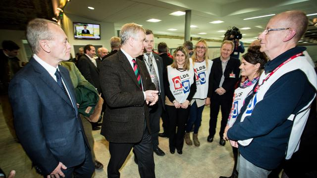 HRH Prince Andrew meets with Mormon Helping Hands volunteers in York