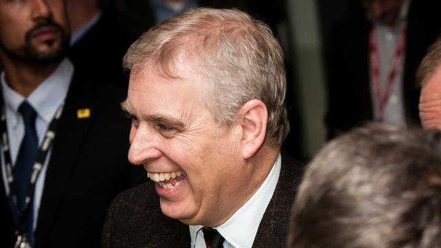 HRH Prince Andrew, Duke of York at event where he met Helping Hands volunteers