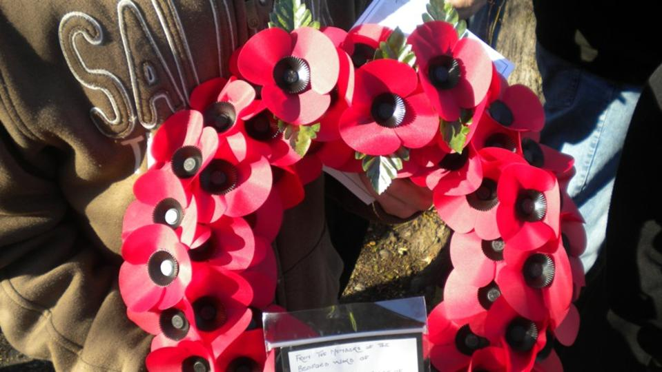 Poppy wreath from the Bedford congregation