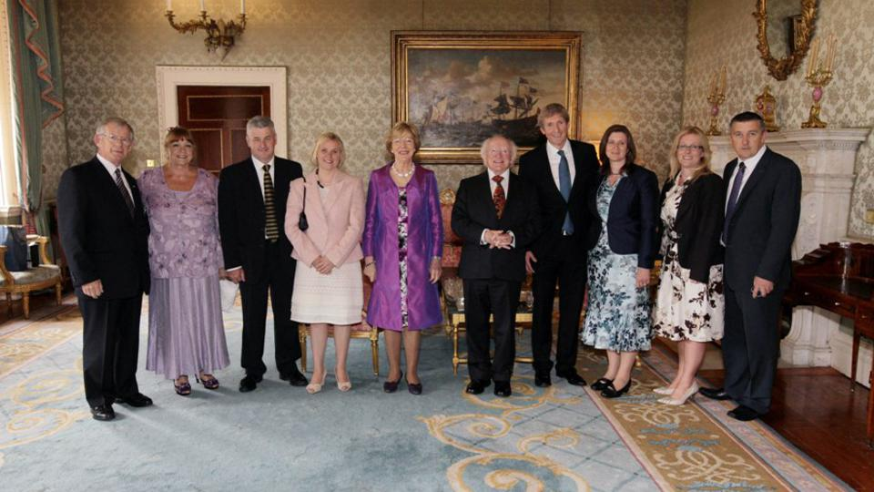 Church leaders meet Michael D Higgins, President of Ireland at his official residence