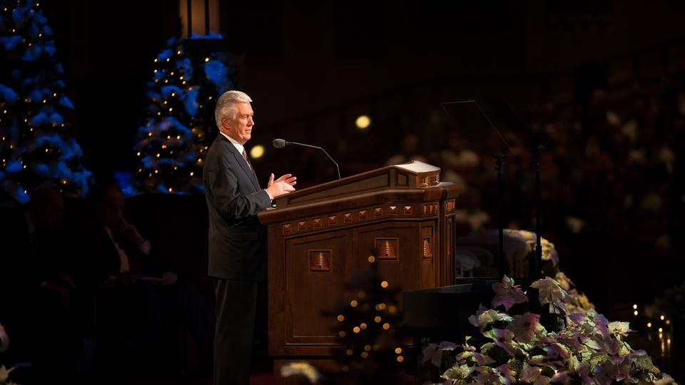 President Dieter F. Uchtdorf, second counselor in the First Presidency of the Church, spoke about a special gift from his brother at the annual Christmas devotional