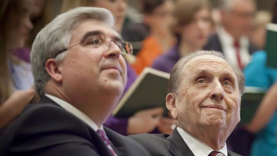 Area President, Jose Teixeira, with the President of the Church, Thomas S. Monson in Germany