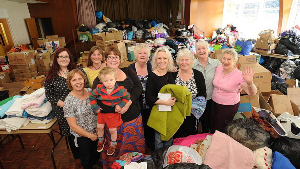 Dumfries members help collect donations for Europe refugees