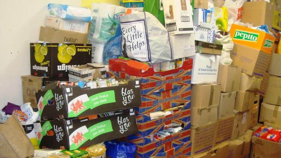 Two tons of donations were made by congregations in South West Wales