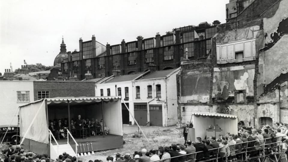 Groundbreaking ceremony for the Hyde Park Chapel in London 1959