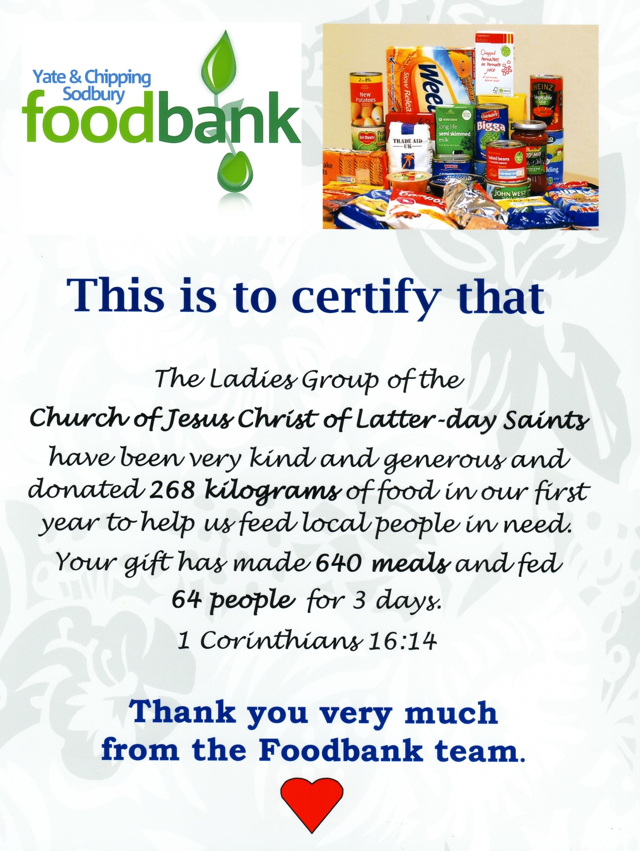 Gloucester Members Donate To Food Bank